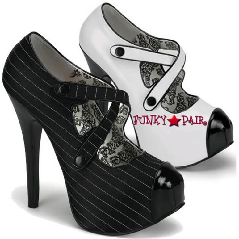Bordello Shoes | TEEZE-23, Criss Cross Velcro Pump