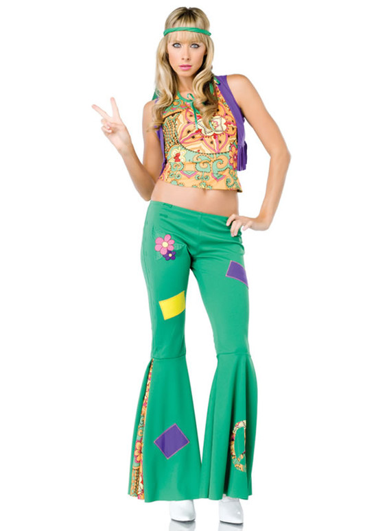LA-83583, Peace Sign Hippie Girl Costume