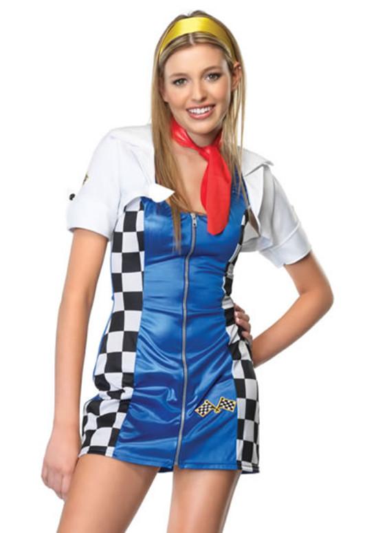 LA-J48017, Teen Risky Racer Girl Costume