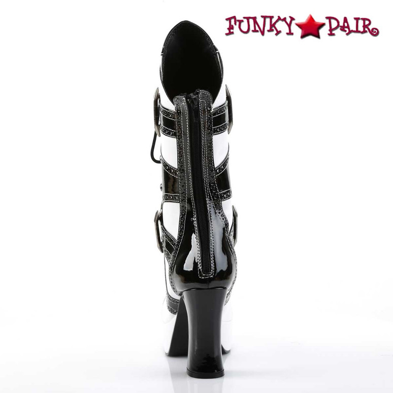 Back Zipper View EXOTICA-1050, Gangster Boot with Brass Knuckle | Funtasma