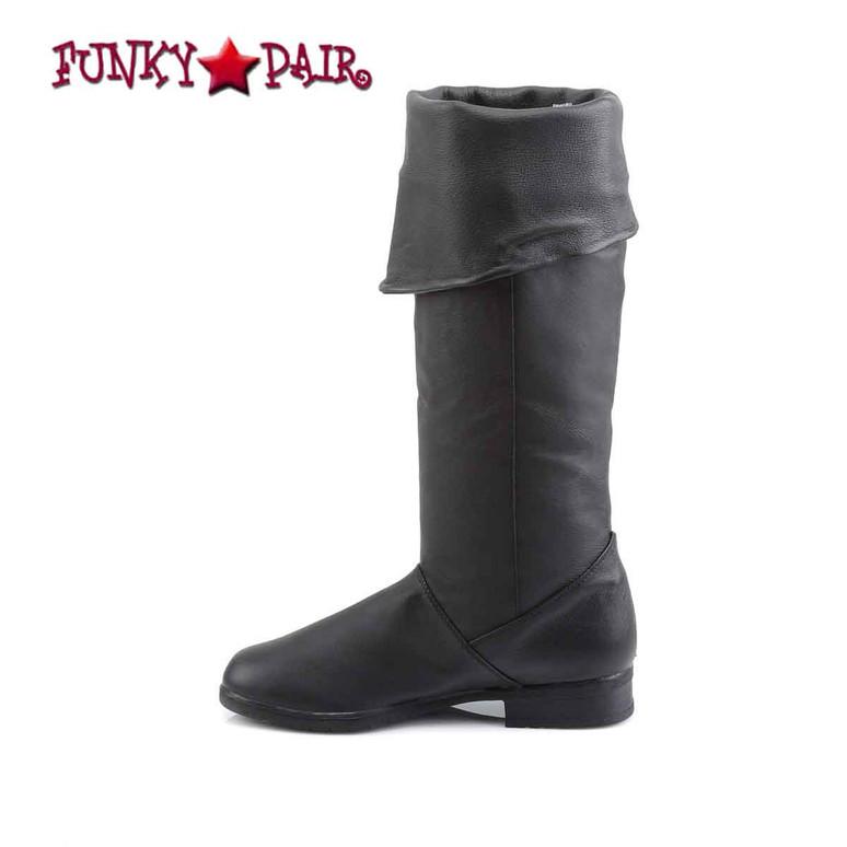 Maverick-8812, Men Knee High Leather Boot | Funtasma inner side view