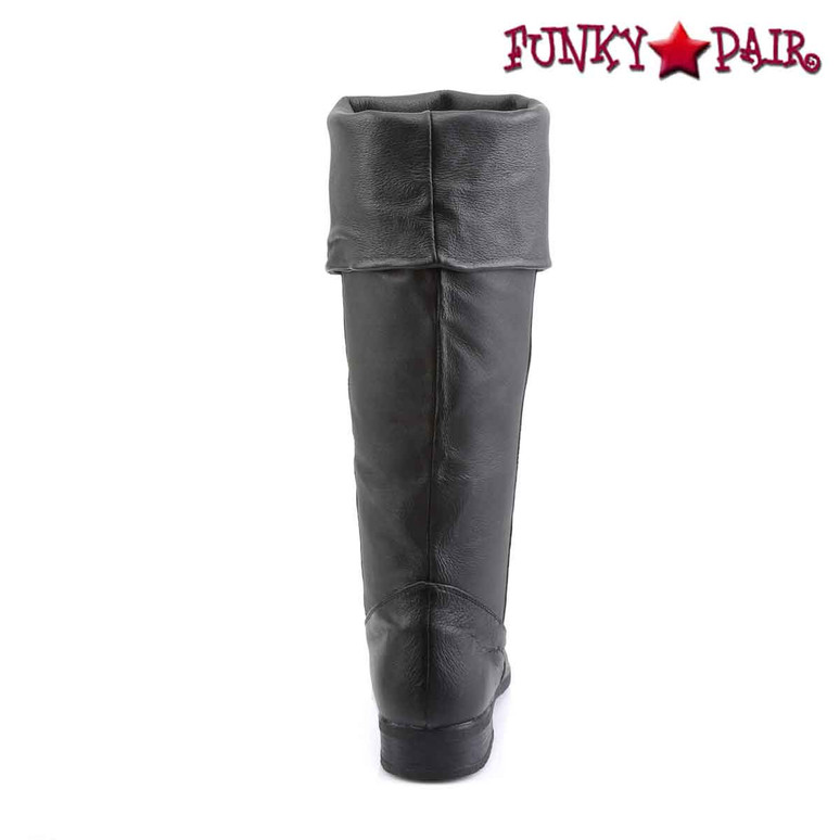 Men Pirate Knee High Leather Boot Maverick-8812, Back View