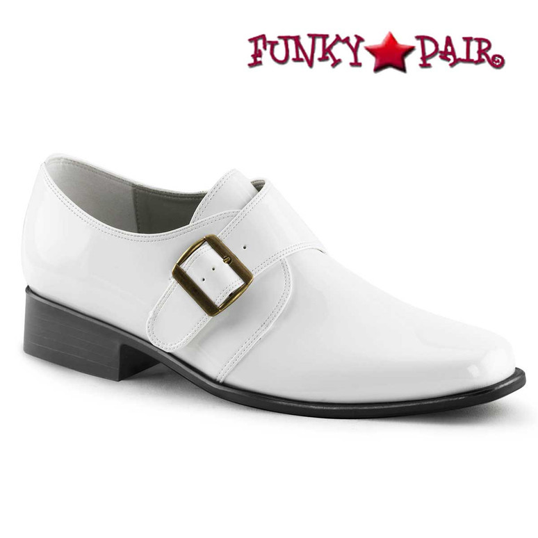 White LOAFER-12, Men Disco Loafer Shoes | Funtasma