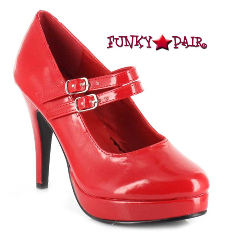 "421-Jane 4"" Mary Jane Pump Red Ellie Shoes 