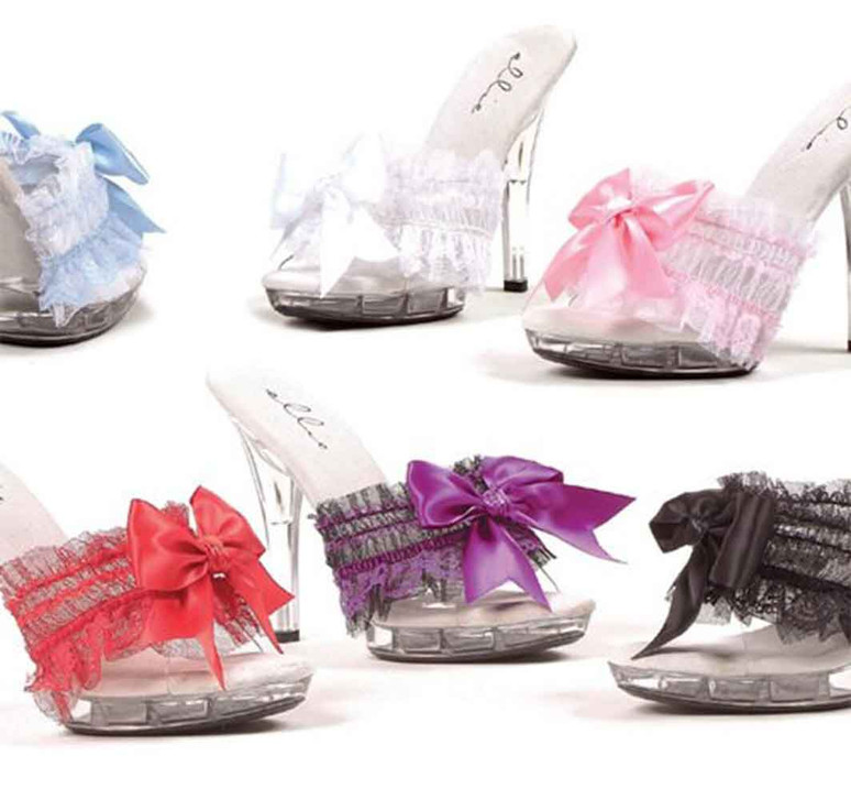 M-Cutie, 5 Inch Mule with Bow Ellie shoes