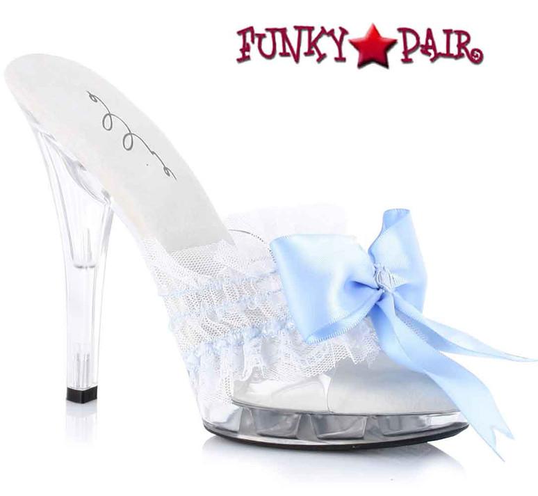 Blue M-Cutie, 5 Inch Mule with Bow Ellie shoes