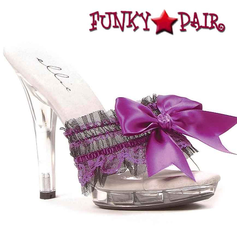 Purple M-Cutie, 5 Inch Mule with Bow Ellie shoes