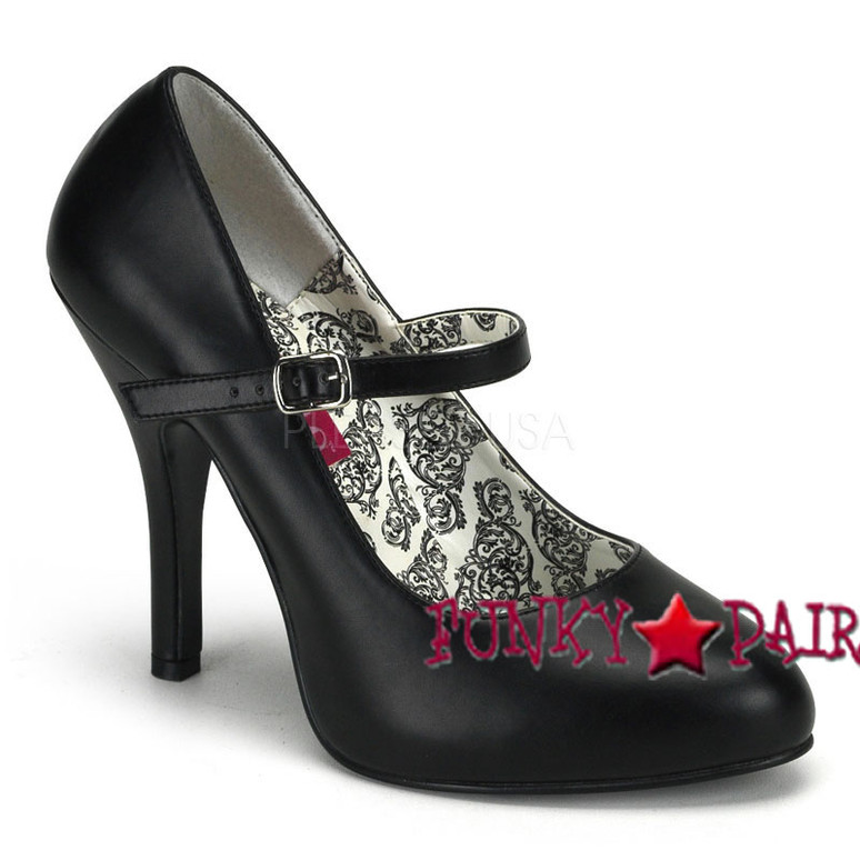 Tempt-35, 4.5 Inch High Heel Buckle Strap Maryjane Made By Bordello