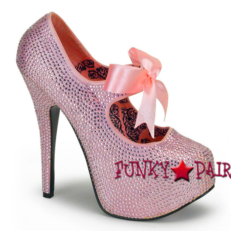 Pink Platform Rhinestone Shoes