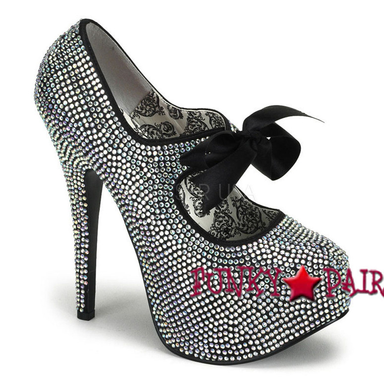 Irridescent Platform Rhinestone Shoes