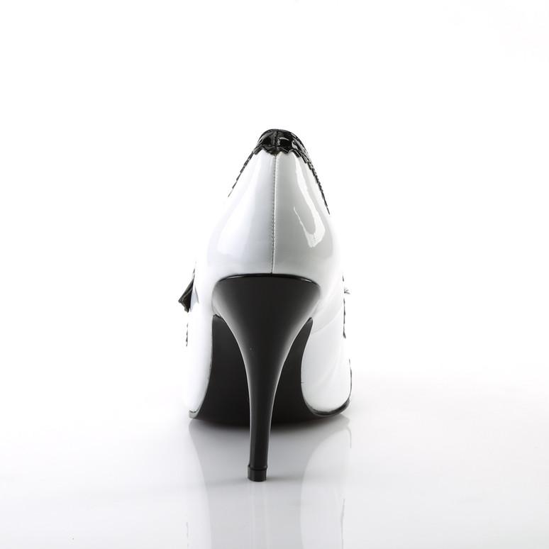 Pleaser | Vanity-442, 4 Inch Heel Spectator Mary Jane Shoe back view