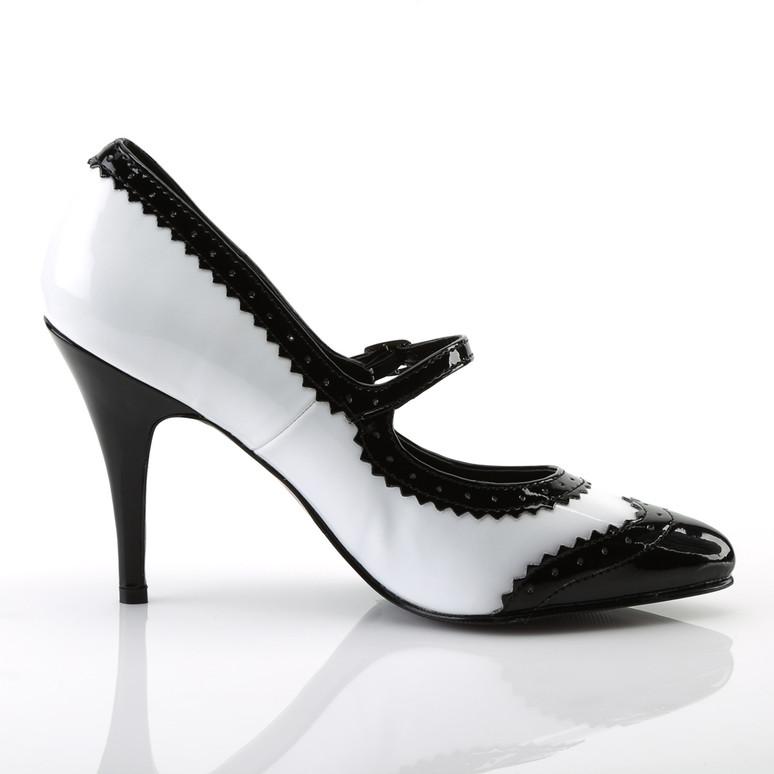 Vanity-442, 4 Inch Heel Spectator Mary Jane Shoe by Pleaser inner side view