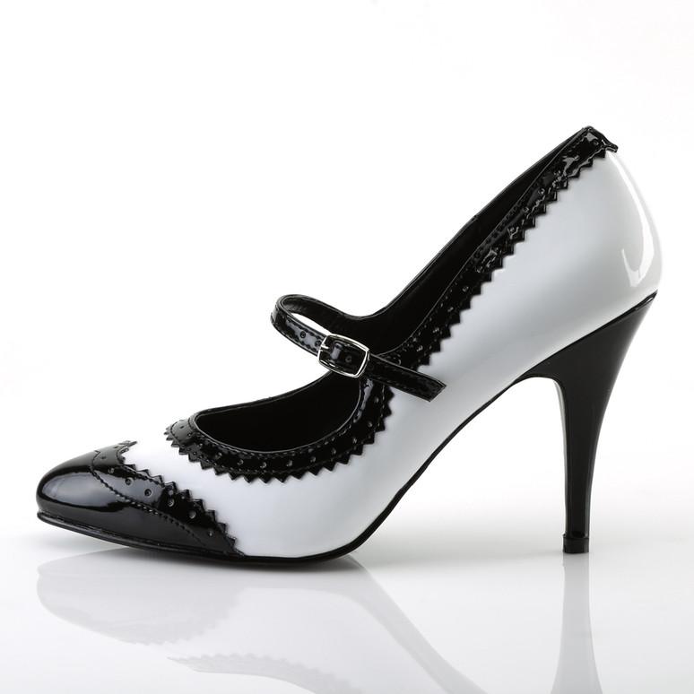 Pleaser | Vanity-442, 4 Inch Heel Spectator Mary Jane Shoe Side View