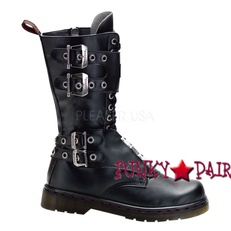 Defiant-302, Boots with Steel Plate Panel Demonia