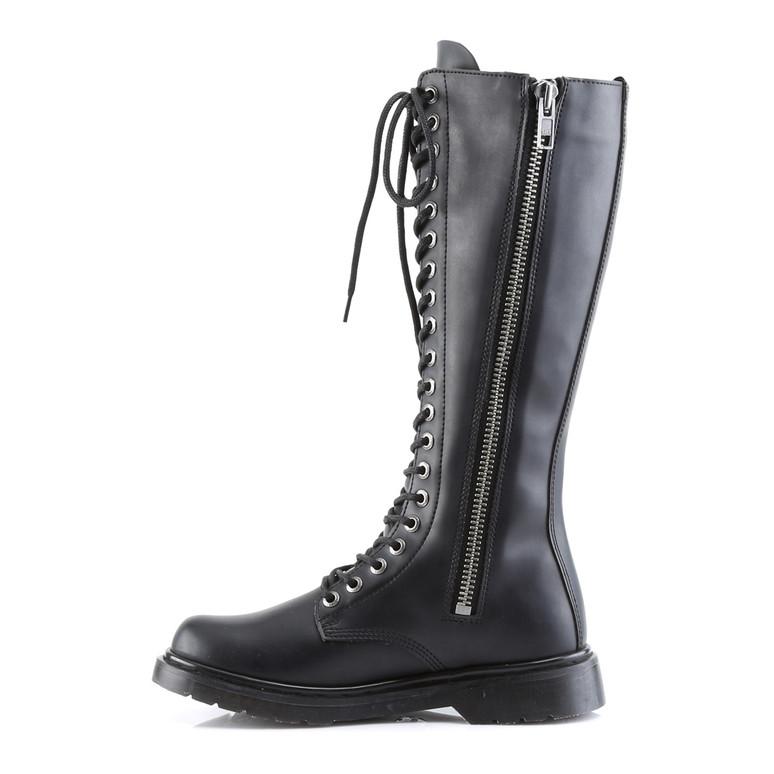 Vegan Combat Boots DemoniaDefiant-400,  zipper side view