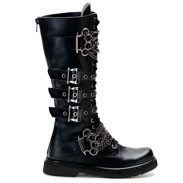 Defiant-402, Brass Knuckles Combat Boots side view