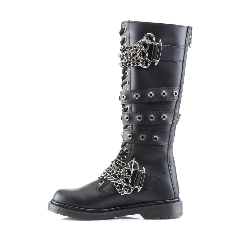 Defiant-402, Brass Knuckles Combat Boots inner side view