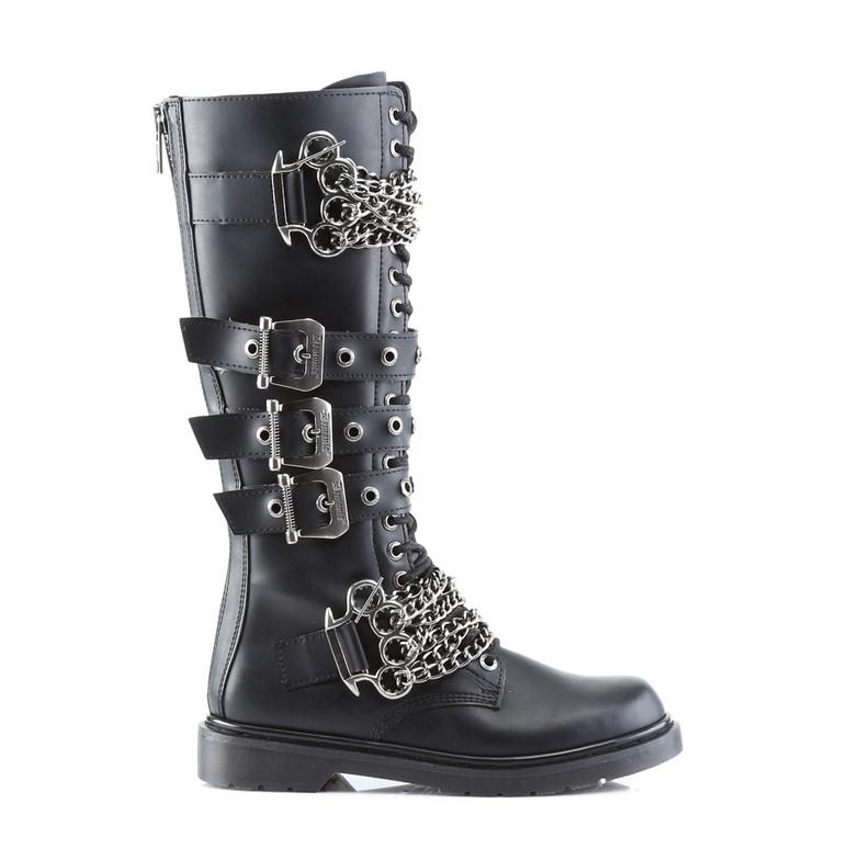 Demonia | Men Defiant-402, Brass Knuckles Combat Boots