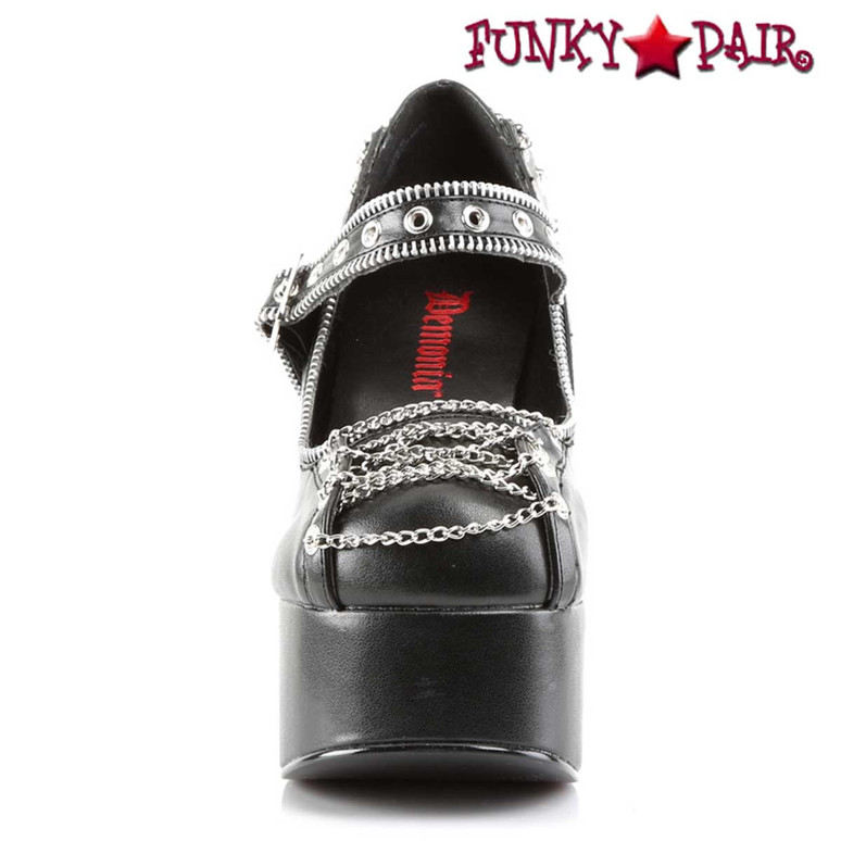 front view Charade-25, Corset Style Mary Jane Women Demonia Shoes