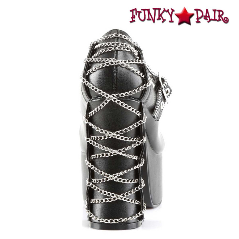 Charade-25, Corset Style Mary Jane Women Demonia Shoes back view