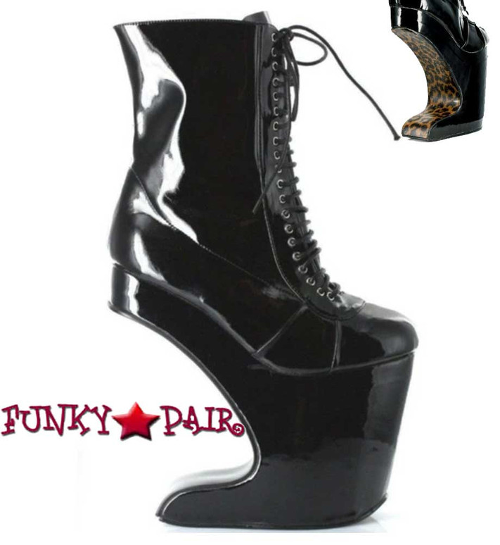 Black Spectator Ankle Boots | Bettie Page BP579-Mather