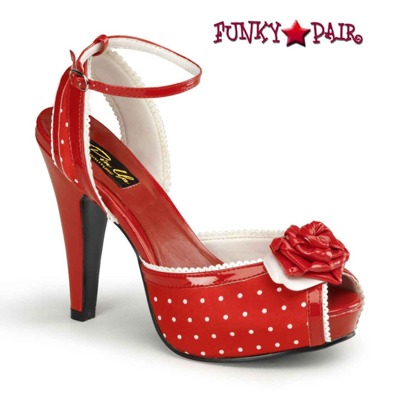 Pin-Up Couture | Bettie-06, Peep Toe Ankle Strap Sandal