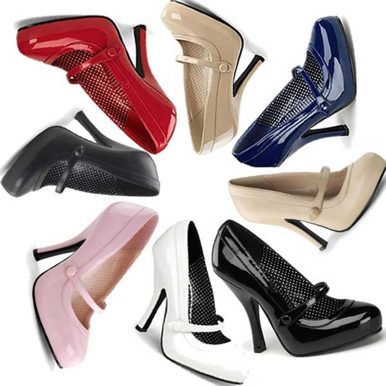 Cutiepie-02, Platform Mary Jane Pump   Pin-Up Shoes