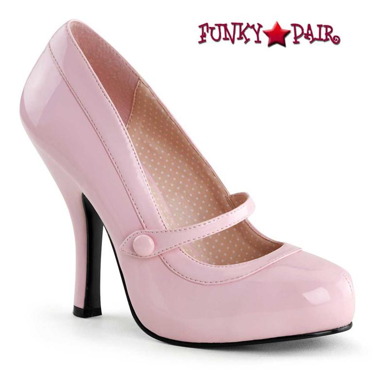 Baby Pink Platform Mary Jane Pump   Pin-Up Shoes Cutiepie-02