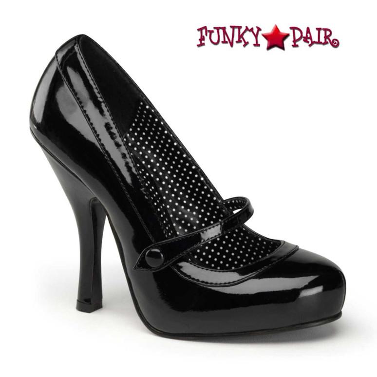Black Platform Mary Jane Pump   Pin-Up Shoes Cutiepie-02