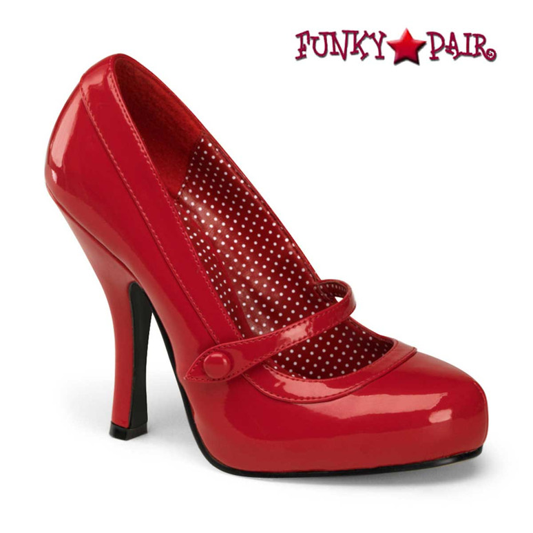 Cutiepie-02, Red Platform Mary Jane Pump   Pin-Up Shoes