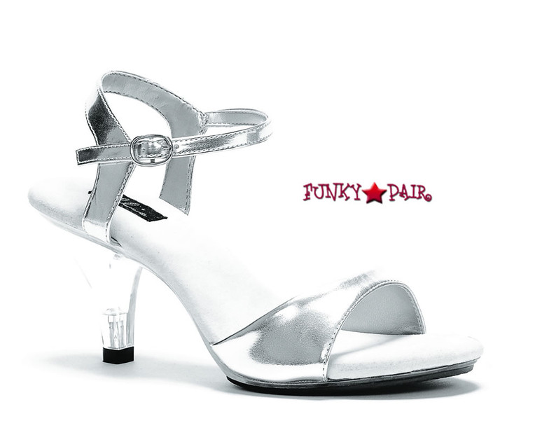 305-Juliet, 3 Inch High Heels Made By ELLIE Shoes Silver