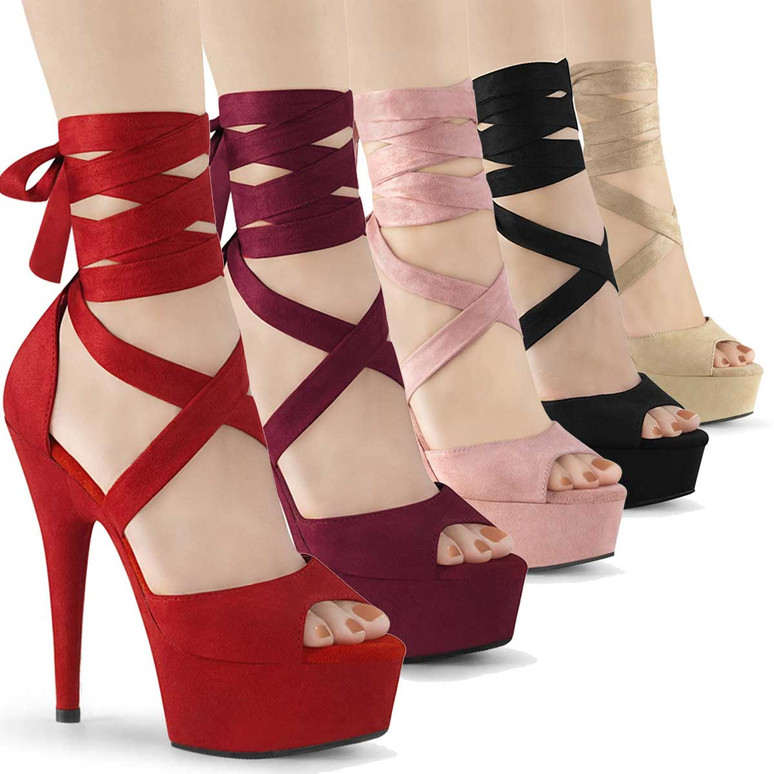 Pleaser | Delight-679,  6 Inch Criss Cross Wrap Sandal