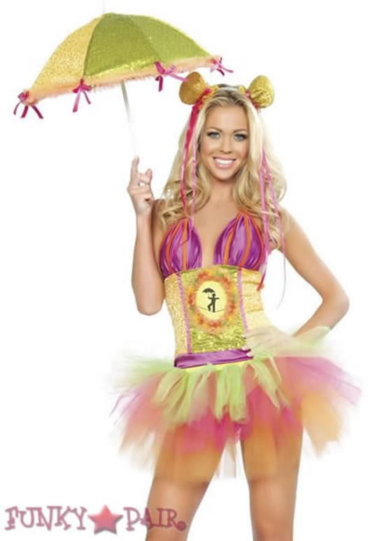 R-4273, Rainbow Clown Raver Costume