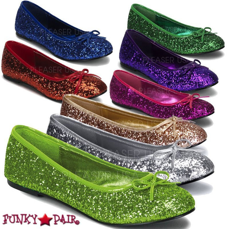 Funtasma | STAR-16G, Women's Cosplay Glitter Flats