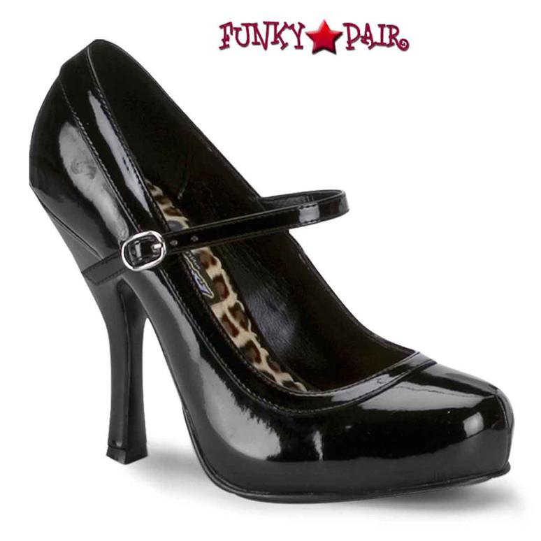 Pretty-50, 4.5 Inch Black Mary Jane platform Made By FUNTASMA