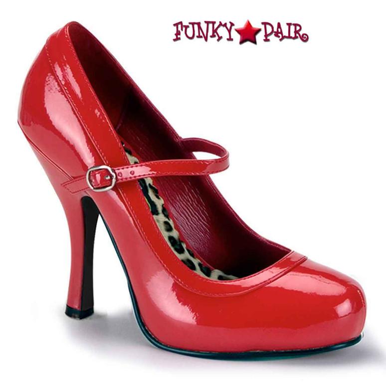 Pretty-50, 4.5 Inch Red maryjane platform Made By FUNTASMA