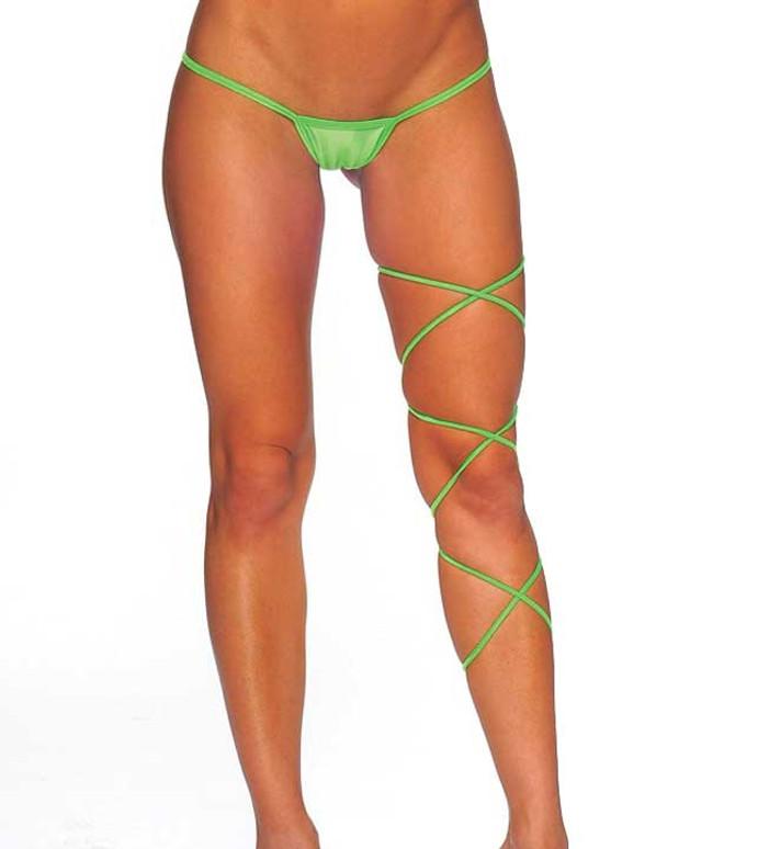 1020SL, Leg Strap One Size Color Neon Green