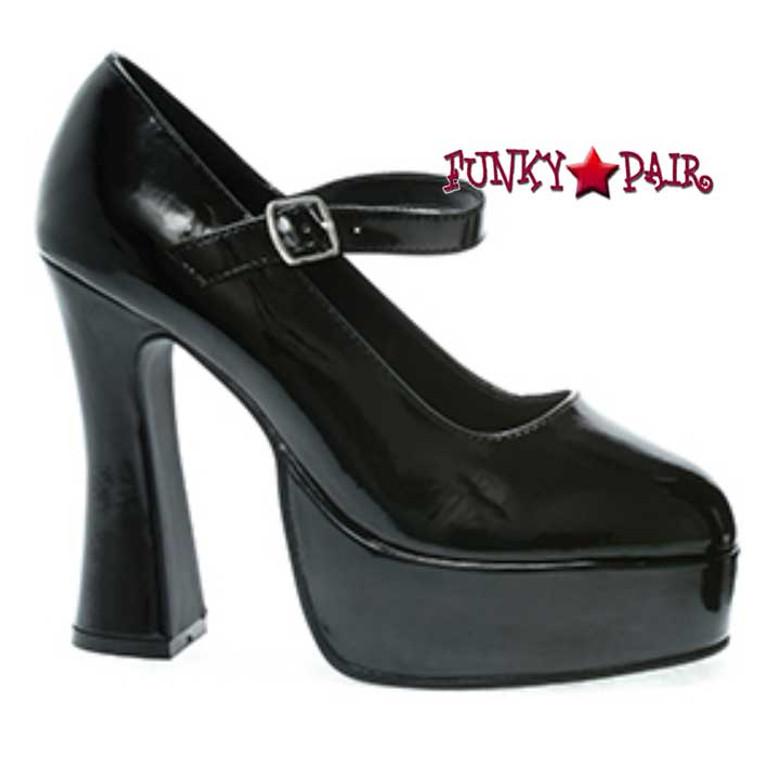 557-Eden, 5 Inch Hig Heel with 3/4 Inch Plaform Mary Jane Shoe color black