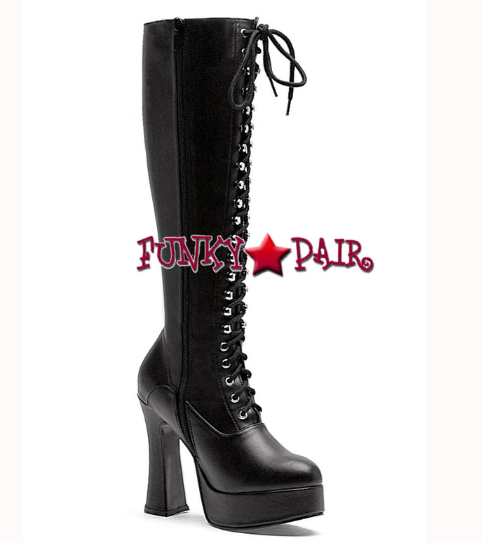 "Ellie Shoes | 557-Gina 5"" Laced Up knee high boots"