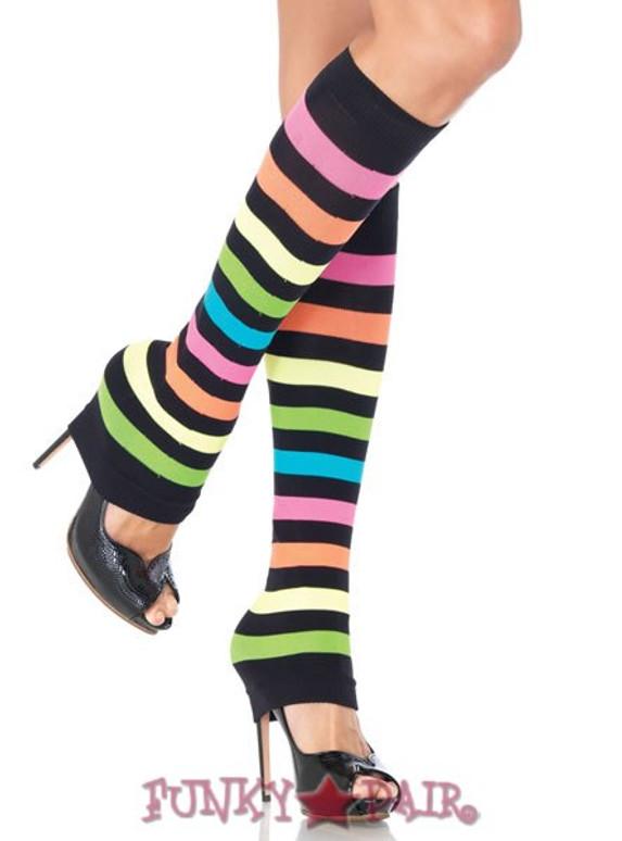 LA-3931, Neon Rainbow leg warmers
