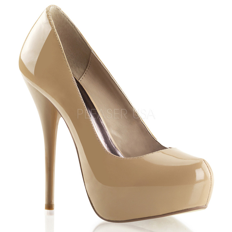 "Gorgeous-20, 5.25"" Heel Dressy Platform Pump color blush patent"