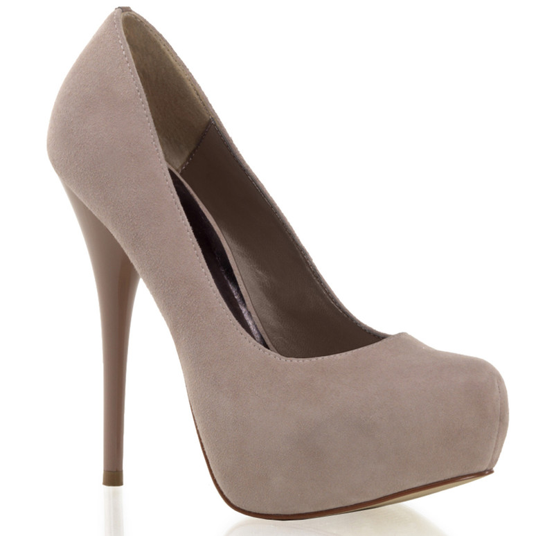 "Gorgeous-20, 5.25"" Heel Dressy Platform Pump color Blush Suede"