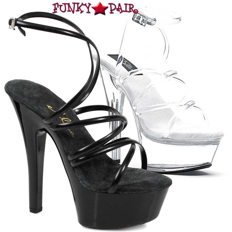 "Ellie Shoes   601-Sophia 6"" Strappy Ankle Wrap Sandal"