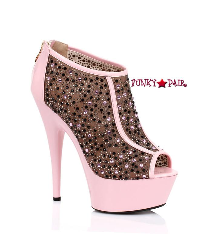 Pink Platform Peep Toe Booties