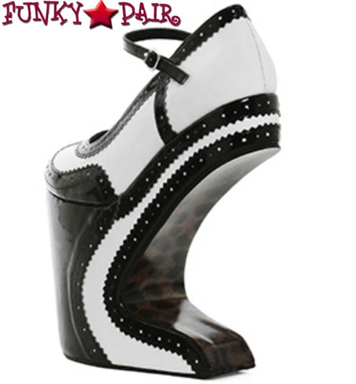 Back View BP579-AUBREY,  Platform Spectators Shoes Bettie Page