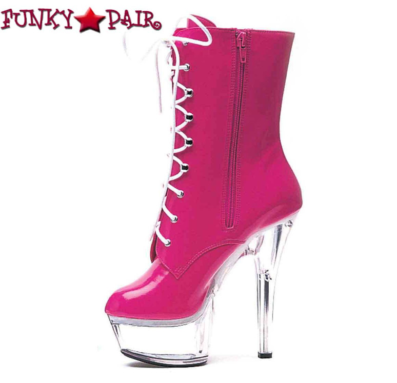 Fuchsia 6 Inch Stripper Ankle Boots | Ellie Shoes 609-Diana