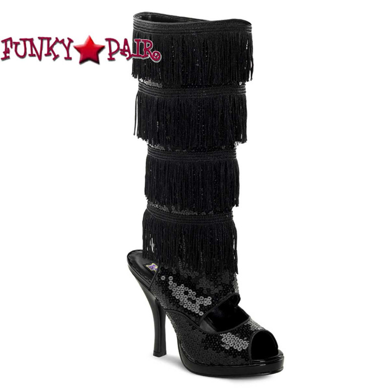 Funtasma Flapper-168, Fringe Knee Boot