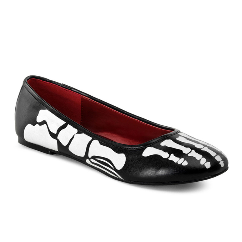 Skeleton Flat Shoes X-Ray-01, costume shoes