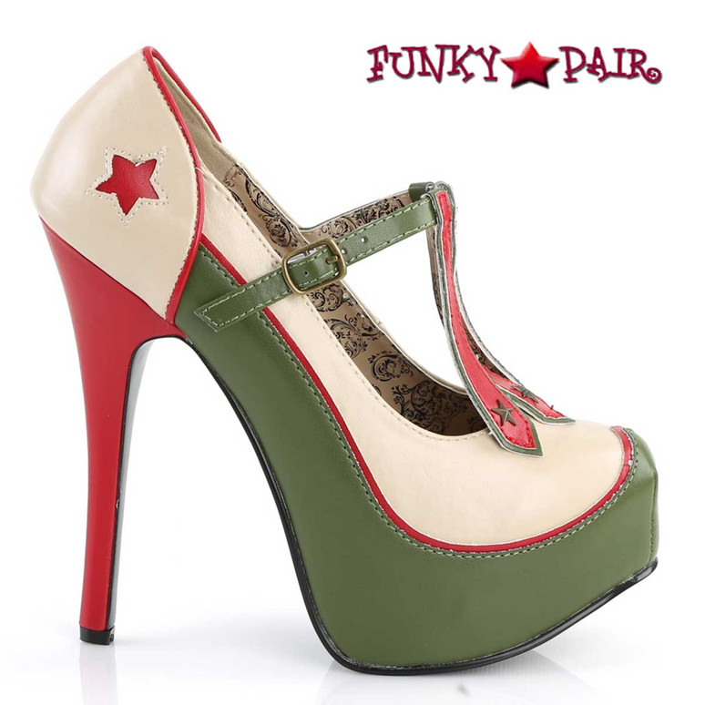 Teeze-43, 3-Stars Military Platform Pump  | Bordello Side View