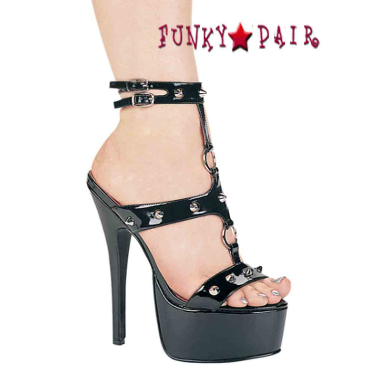 652-Kayla, 6.5 Inch High Heel with 1.75 Inch Platform Fetish Shoes Made by ELLIE Shoes